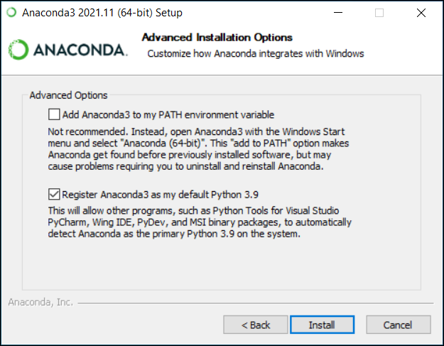Installing on Windows — Anaconda 2 0 documentation